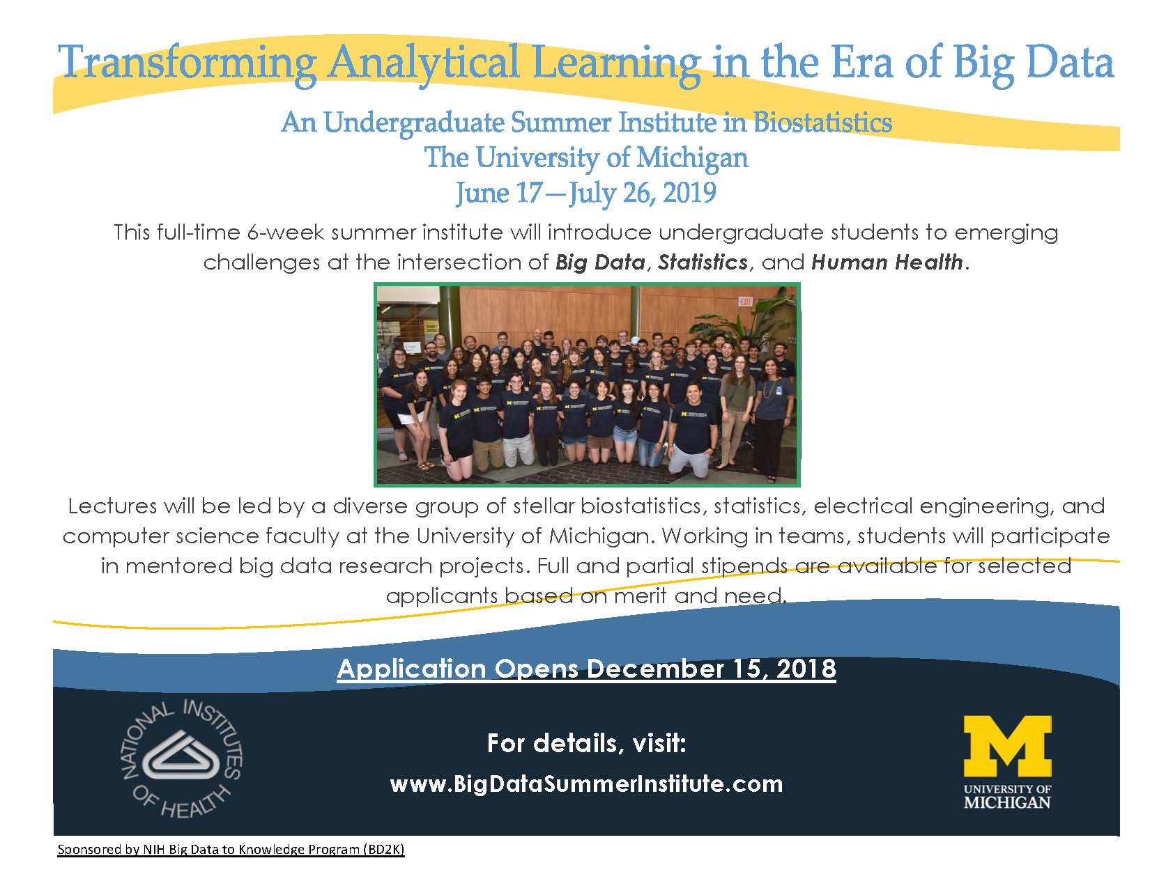 Analytical Learning expired) undergrad summer institute- transforming analytical