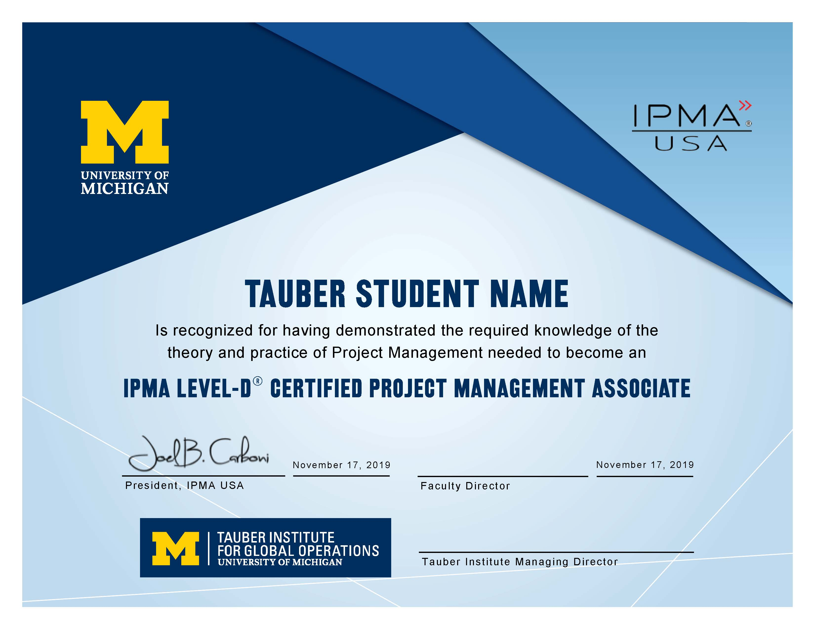 Expired Project Management Certification Happening Michigan
