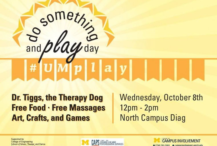 Play Day on October 8, 2014 on North Campus Diag from 12p-2p