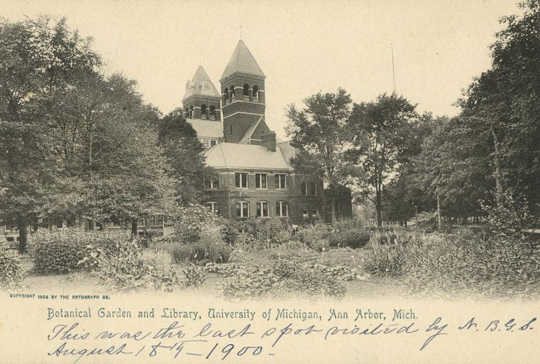 Botanical Garden and Library, University of Michigan, Ann Arbor, Michigan, 1904,