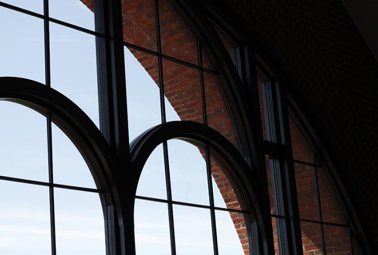 intramural sports building window