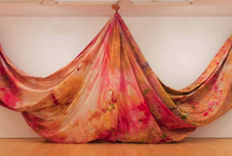 Sam Gilliam Situation VI—Pisces 4  ca. 1972 Polypropylene painted multiform  Williams College Museum of Art Museum purchase, Otis Family Acquisition Trust and Kathryn Hurd Fund