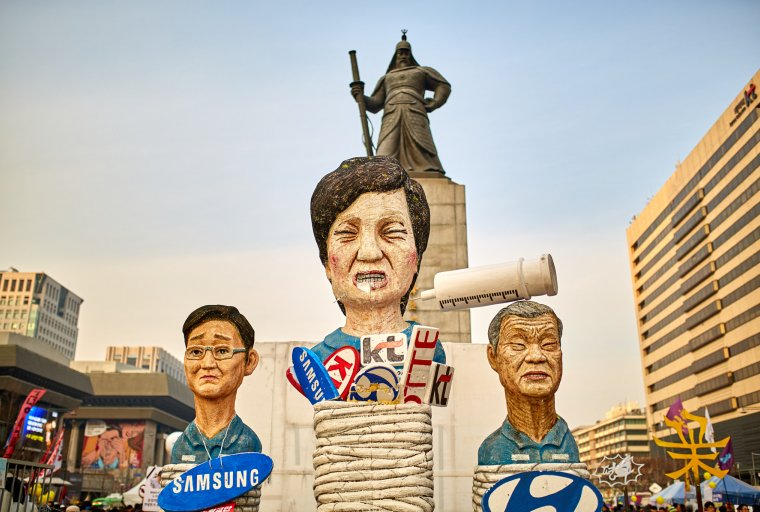 Protest Sculptures In Front Of Admiral Yi , Wikimedia Commons contributors
