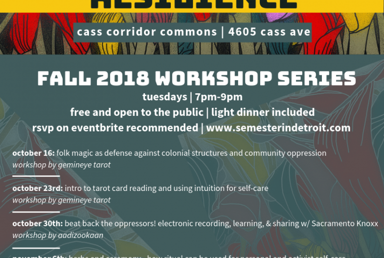 Facebook Header with details about the workshop series