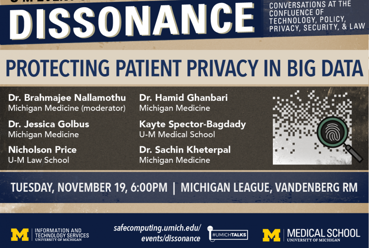Dissonance Event: Protecting Patient Privacy in Big Data