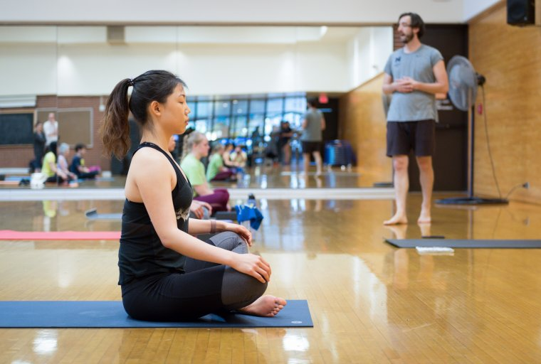 This class will combine yoga poses (asanas) with breathing exercises (pranayama) to help align and calm your body, mind, and spirit.