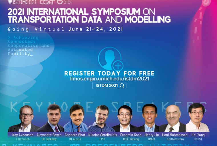 Banner Image for ISTDM 2021. It features headshots of the keynote speakers