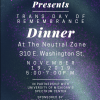The Spectrum Center, RIOT Youth at The Neutral Zone, and PNC Bank are co-sponsoring a Trans Day of Remembrance Dinner. The dinner will be held at The Neutral Zone, 310 E. Washington Street.