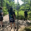 Group of students hiking