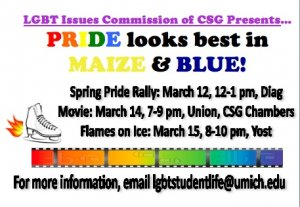 Spring Pride Week Events