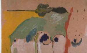 Helen Frankenthaler, Tales of Genji I, 1998, 33-color woodcut on light sienna TG