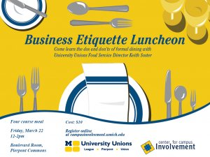 Business Etiquette Luncheon 3/22/13