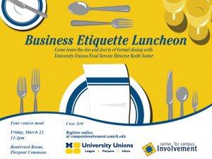 Business Etiquette Luncheon 3/22/13