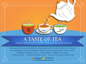 A Taste of Tea, Feb 26, 4-6pm