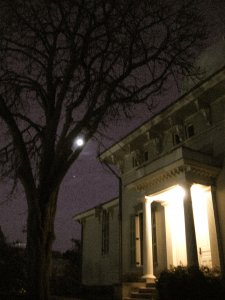 The Moon over the Detroit Observatory