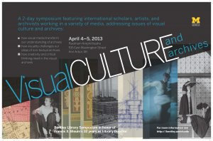 Poster for Bentley Library Visual Culture and Archives Symposium