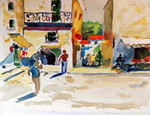 Mediterraneo: Watercolor by Kay Cassill