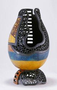 Gourds & Baskets: Mixed Media by Karen Fenwick