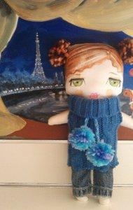 Sooziedoozie Hand Painted Fiber Dolls by Susie McColgan