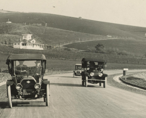 Lincoln Highway (formerly Foothill Blvd) near Hayward, California in Alameda Cou