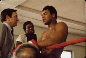 Mike Wallace and Muhammad Ali (Courtesy Bentley Historial Library)