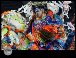 Male Fancy Dancer at at last year's powwow.