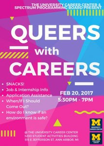 Queers with Careers flyer
