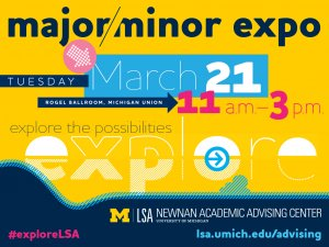 Major/Minor Expo is March 21!