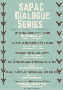 A flyer for the SAPAC Dialogue Series