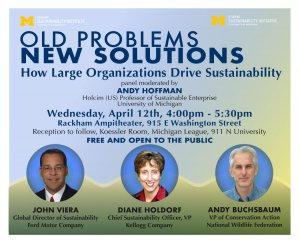 Sustainability Panel Event Flyer