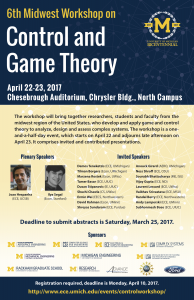 Control & Game Theory Conference Poster