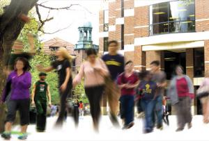 Students on UM Campus