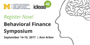 Behavioral Finance Register Now ad