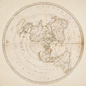 Planisphere terrestre, ou son marquées longitudes de divers lieux de la terre, trouvées par les observations des eclipses des satellites de Iupiter / dressé et presenté a Sa Majesté par Mr. de Cassini, directeur a l'Observatoire Royal.
