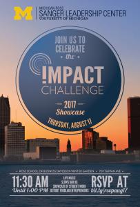 Michigan Ross Impact Challenge Showcase