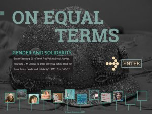 Susan Eisenberg On Equal Terms Exhibit Flyer