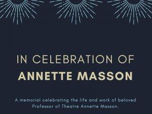 In Celebration of Annette Masson