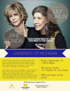 Jane Fonda with Lily Tomlin