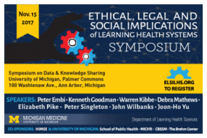 The ELSI-LHS Symposium will be Nov. 15 from 8 to 4 at Palmer Commons.