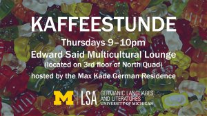 kaffeestunde max kade thursdays 9-10pm