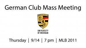 2017.09.14 German Club Mass Meeting