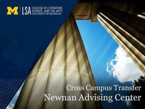 cross campus transfer newnan advising
