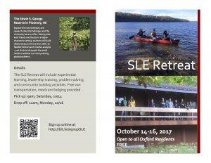 SLE Retreat flyer