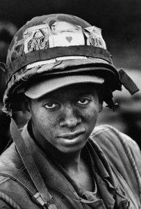 Vietnam Soldier Looking at Camera
