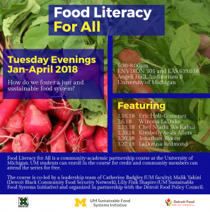 Food Literacy for All flyer