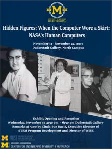 Hidden Figures Exhibit Poster