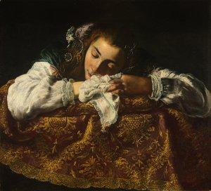 sleeping woman, domenico fetti