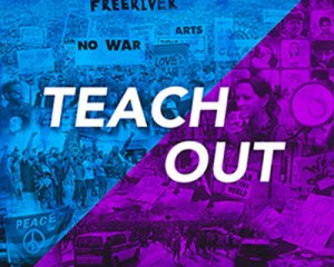 Blue & Purple TeachOut Graphic