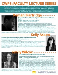 Faculty Lecture series flyer