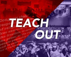 Free speech, college students graduation